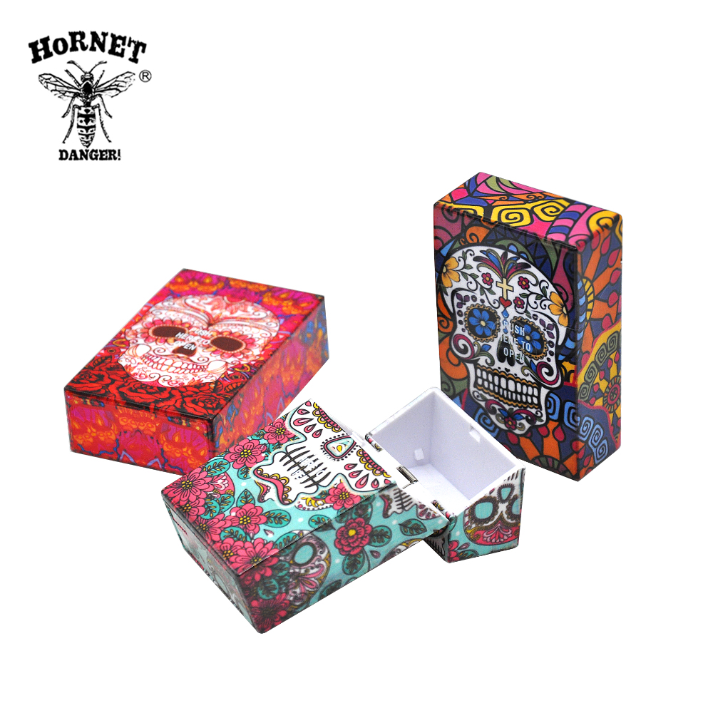 [HORNET]6 Type Skull Pattern Plastic Cigarette Case Size 95mm*60mm Cigarette Tobacco Storage Case