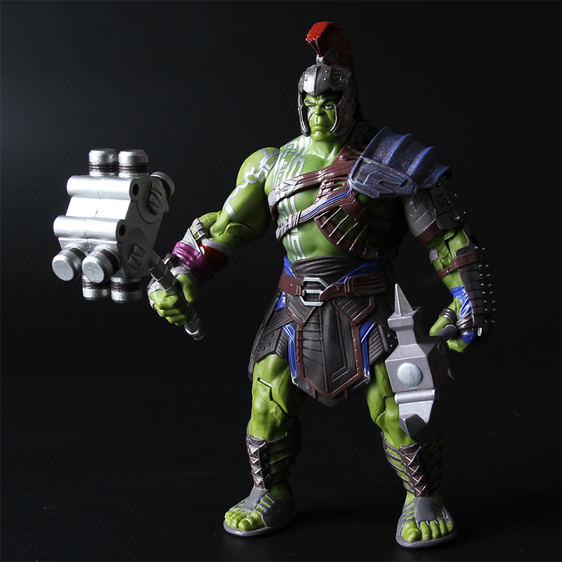 Avengers Marvel Thor 3 Ragnarok Action Figure War Hammer Battle Axe Gladiator Hulk BJD Model Toy 20cm