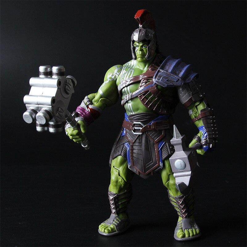 Vingadores marvel thor 3 ragnarok figura de ação martelo batalha machado gladiador hulk bjd modelo brinquedo 20cm