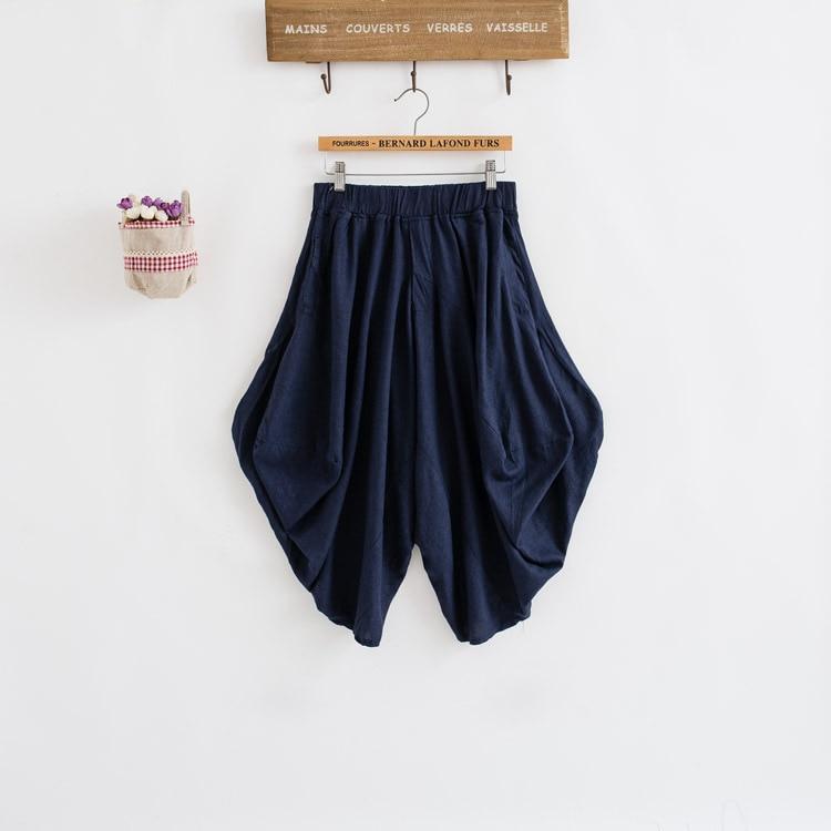 Damen Baumwolle Leinen Lose Haremshose Frauen Kleidung Strench Taille - Damenbekleidung - Foto 5