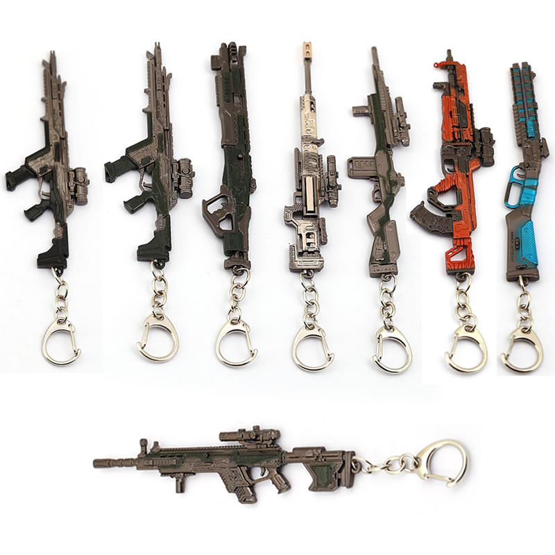 Game APEX Legends Hero Gun Model Keychain Pendant Keyring Bag Car Key Chains Accessories Gift For Men Women