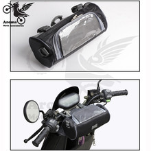 universal parts waterproof scooter phone touch screen luggage pouch moto handlebar motorbike head bags motorcycle accessories