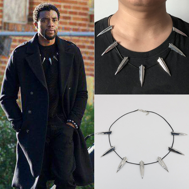 9212bae79a4fb US $30.0  Wholesale Tot Sell New Avengers Black Panther Necklace Wakanda  King T Challa Black Panther Cosplay Jewelry -in Pendants from Jewelry & ...