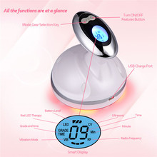 Portable Ultrasonic Body Slimming Massager LED RF Therapy Fat Removal Electric Beauty Device S49
