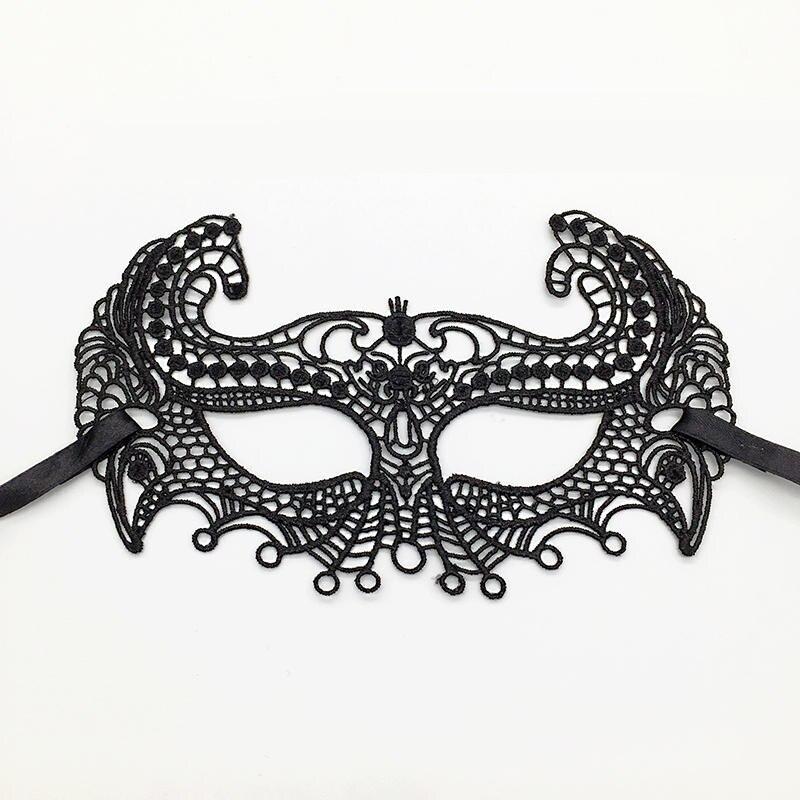 Черная Сексуальная кружевная Маскарадная маска для карнавала, Хэллоуина, маскарада на половину лица, маски для вечеринки, праздничные принадлежности для вечеринки#30 - Цвет: PM023