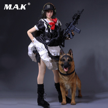 1:6 Female clothing set 1/6 Scale Armed Maid MCC-003 Type with rifle model  mo and police dog Fit 12 Lady Action Figures