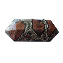 Schlangenhaut-design mode frauen abschlussball-partei-abend box clutch