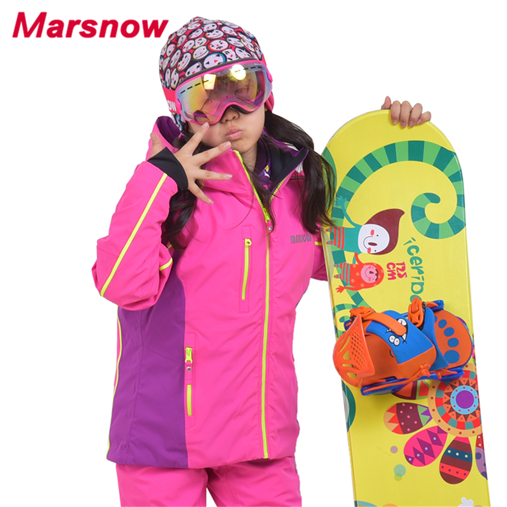 2017 Marsnow Children Snowboarding Jackets Kids Outdoor Skiing Jacket Girls Warm Coat Boys Waterproof Ski Jackets CJ1817 marsnow children ski jacket boys girls warm winter skiing snowboard jackets child windproof waterproof outdoor kids snow coats