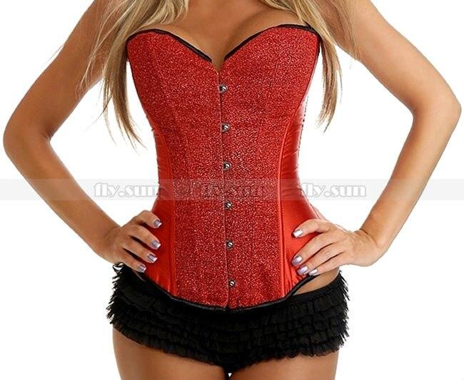 New Burlesque Green Satin Bustier Lace up corset skirt S M L XL 2XL Costume