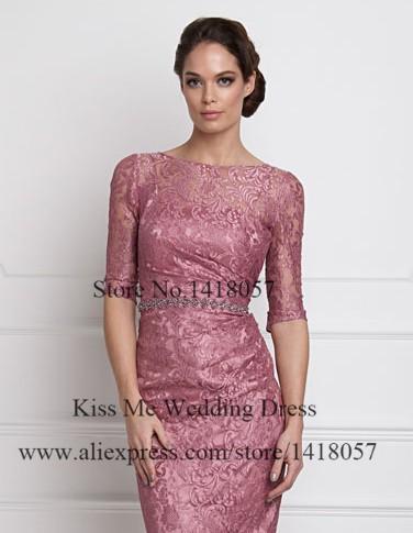 24a9f4f66eed Elegante rosa antico breve madre della sposa abiti di pizzo con giacca  guaina plus size vestito madrina LO190. LO190 (6) LO190 (5) ...