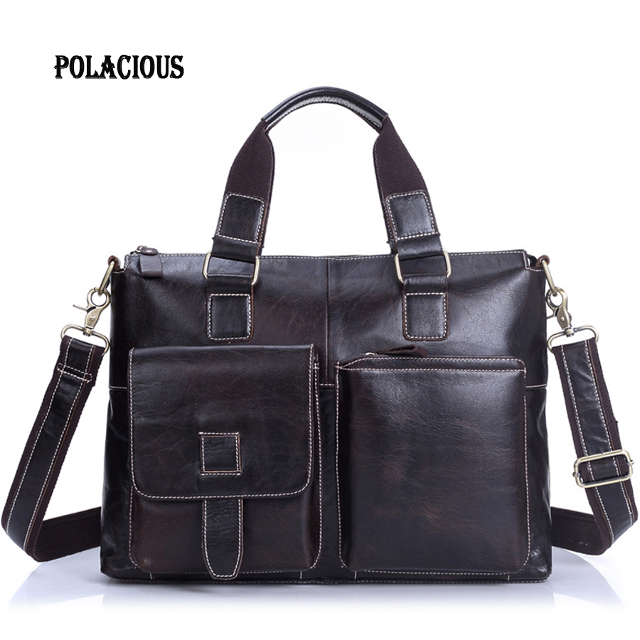 Подробнее о 2016 Men messenger bags genuine leather bag men briefcase fashion designer handbags high quality famous brand business men bag new men business handbags messenger bags genuine leather bag men briefcase fashion high quality brand design shoulder bag ys1444