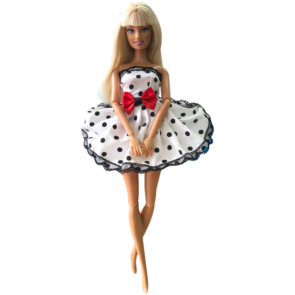 NK 2019 One Set Lovely Doll Clothes Dress Leisure Fashion Skirt Party Gown For Barbie  Doll Accessorie Baby Toys Gift DIY 0 JJ