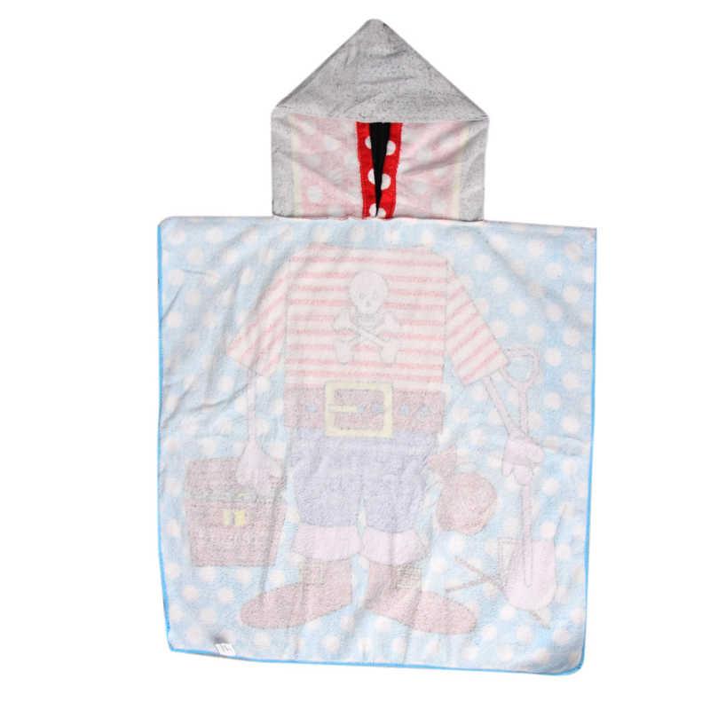 New Children Beach Towel Children Hooded Boys Cartoon Baby Girl Bath Towel Absorbent 6 Pattern