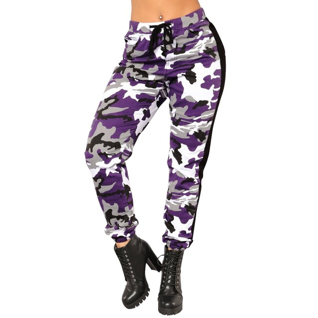 2fbeb6b5b2d72 2018 New Spring Autumn Womens Camo Trousers Casual Pants Military Army  Elastic waistt Camouflage Pants High Quality