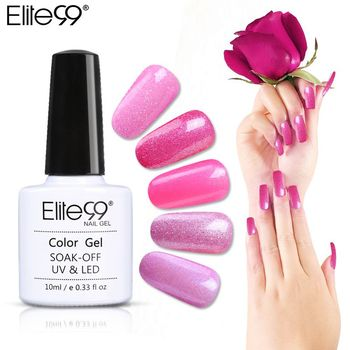 Elite99 10 ml Magenta Serie UV Nagel Gel Semi-permanent Nagellack Gel Lack Soak Off Gel Lacke Für DIY Nagel Kunst Farbe