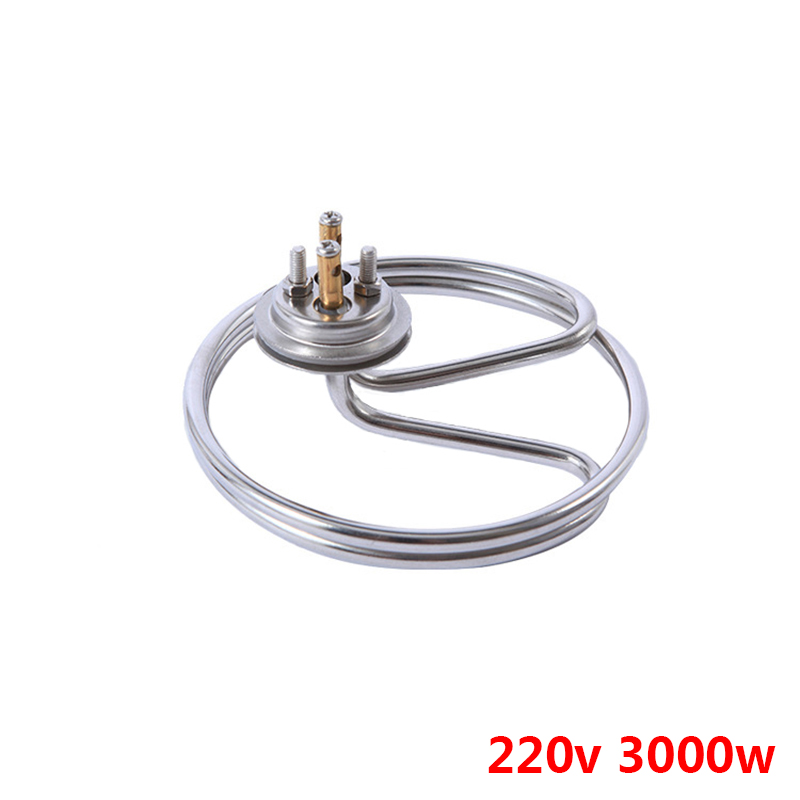 3KW electric heat tube for heat insulation barrel,32mm lid heat pipe for dish-washing machine,heating element for towel cart 3kw 220v food grade sus304 electric heat tube for electric barrel coil heating element for water bucket noodle maker parts