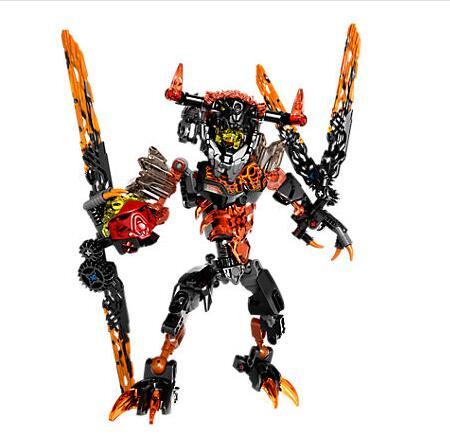 KSZ 613-2 Bioquímica Besta Guerreiro Lava Bionicle Building Block Bricks Brinquedos Presente Para Crianças Compatíveis Com Bela 71313