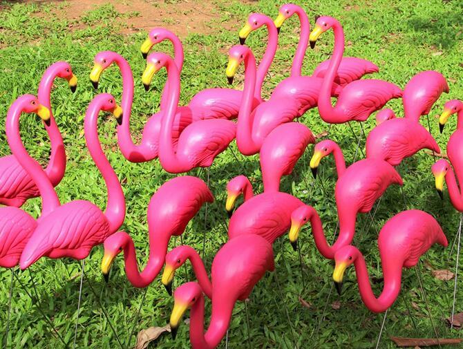 Online Get Cheap Garden Flamingos Plastic Aliexpresscom
