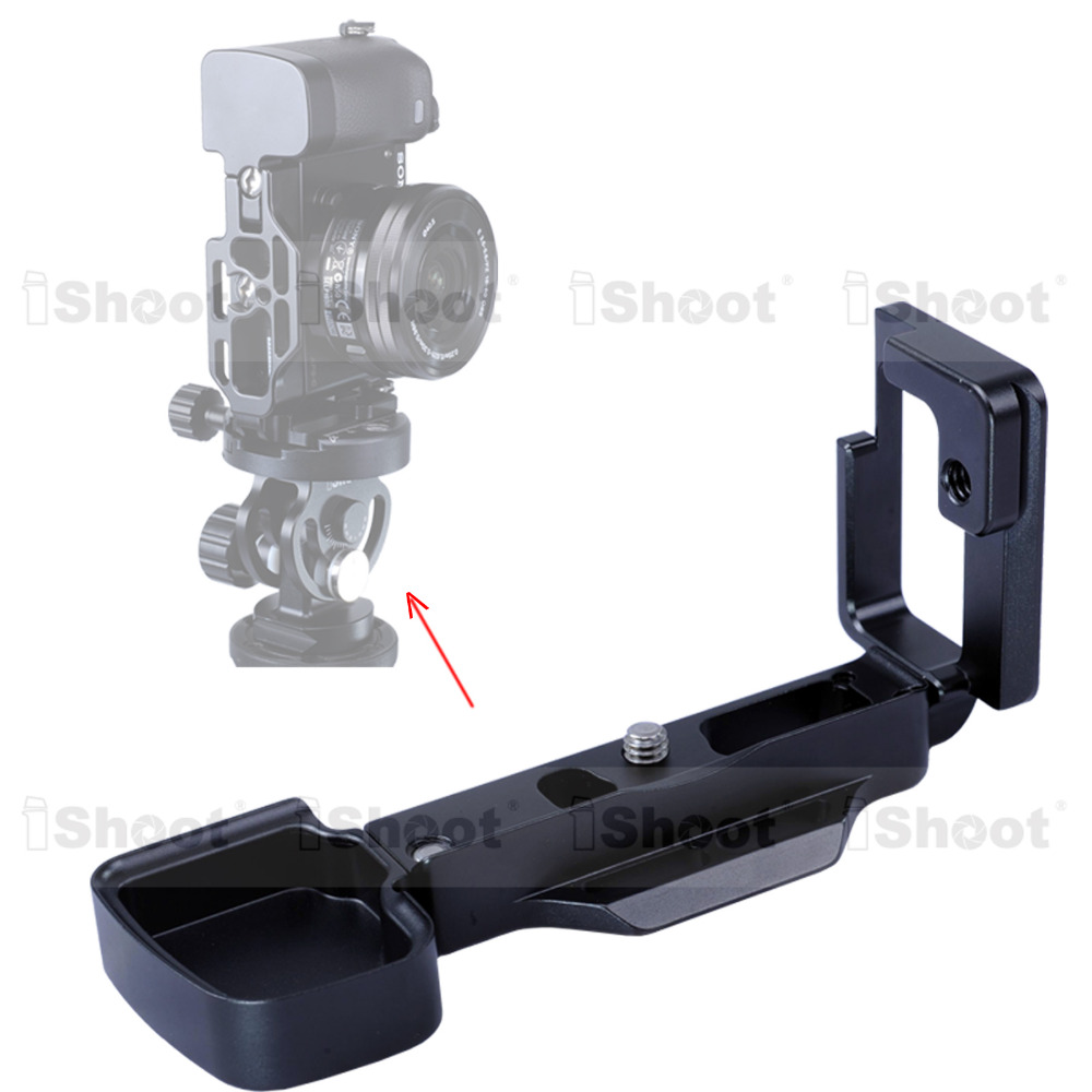 L shaped Vertical Quick Release Plate Camera Holder Bracket Grip for Tripod Ball Head Sony a6300