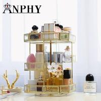 Glossy metal Makeup Organizer Box Acrylic Make Up Organizer Storage Box Clear Plastic Cosmetic Storage Box Makeup Organizer