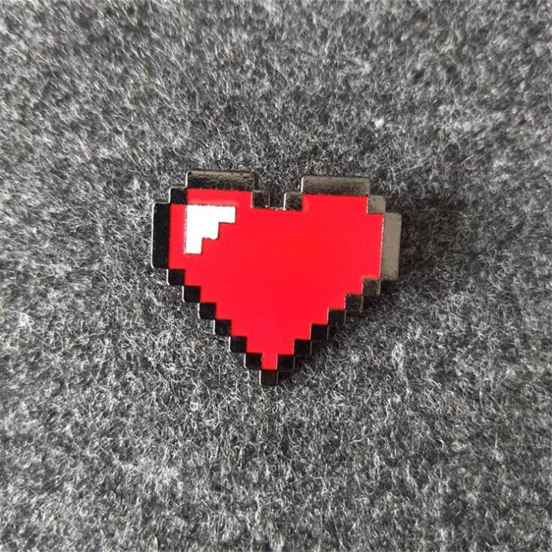Undertale cœur émail broches Métal Broche Pour Sac à dos sacs chapeaux badge Enfants Cadeaux