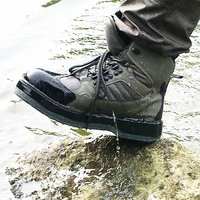 Fly Fishing Shoes Aqua Sneakers Breathable Rock Sport Wading Waders Felt Sole Boots Quick drying No slip For Fish Pants Clothing