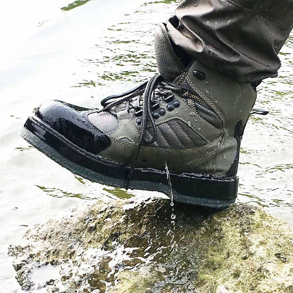 Chaussures de pêche à la mouche Aqua Sneakers respirant Rock Sport Wading Wading feutre semelle bottes séchage rapide antidérapant pour poisson pantalon vêtements