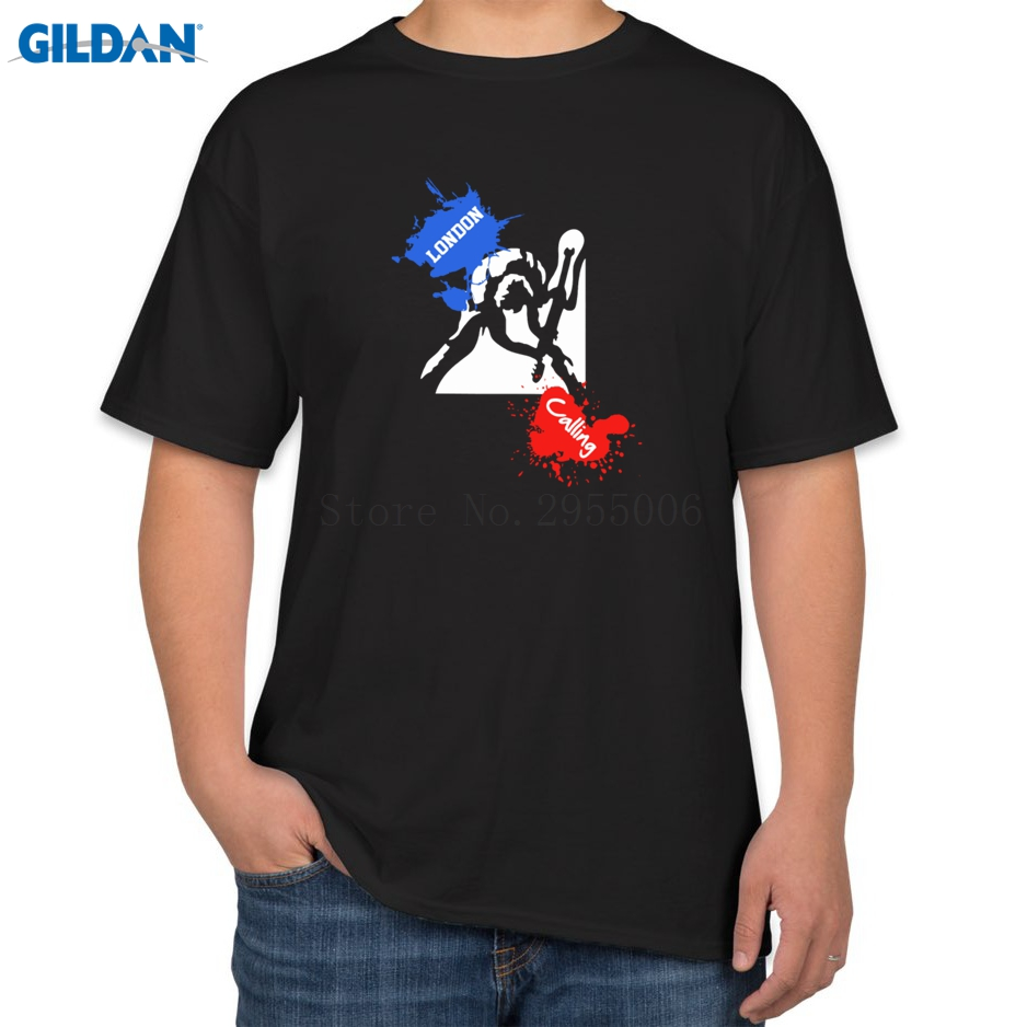 Shirt design london - The Clash London Calling T Shirts Printing Cotton T Shirts Euro Size Top Online Sales Men S T Shirts Designs
