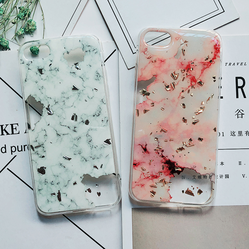 Luxury Gold Foil Bling Marble Phone Cases For iPhone X 10 Cover Hole Soft TPU Cover For iPhone 7 8 6 6s Plus Glitter Case Coque (10)