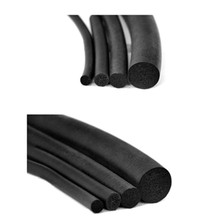 5M car door Edge Protector flexible O shape Soundproof Rubber Seal Strip Solid Round Multiple specifications