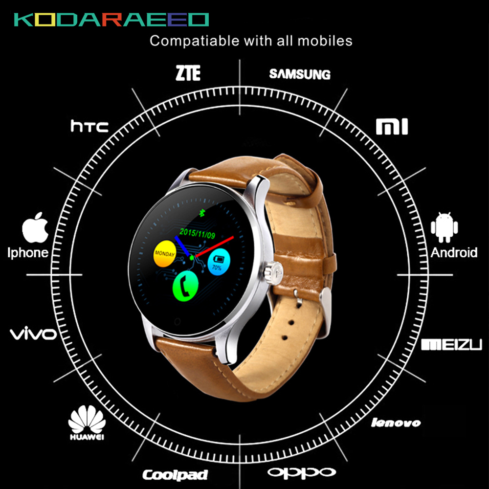 K88H Smart Watch MTK2502 Heart Rate tracker Monitor with Detachable Strap Wrist SIM Card Smartwatch Men for IOS Android Phone k88h mtk2502 bluetooth smart watch with heart rate monitor for android ios phone