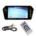 """7 """"TFT LCD Color de 16:9 HD MP5 FM Bluetooth USB SD AV de Coches Retrovisor Monitor"""