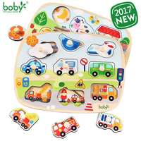 Toys For Children Peg Puzzle Baby Toy Wooden Educational Gift Traffic Farm