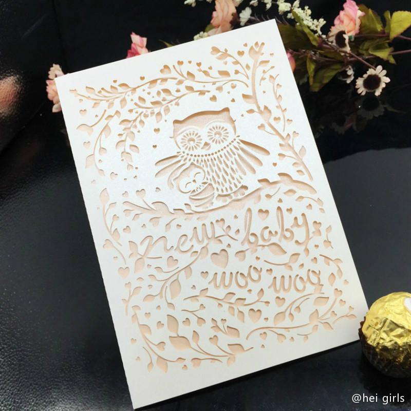 30 Teile/los Hohle Hochzeits Einladungen Exquisite Tier Eule Einladungskarte  Für Business/Party