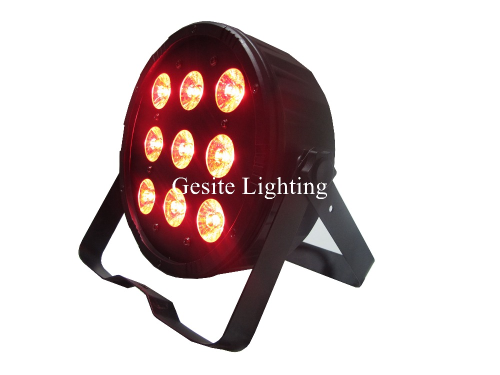 New Arrival 9pcs*12W 4in1 RGBAW LED Flat Par Light,LED Slim Par Can,American DJ Light For Christimas