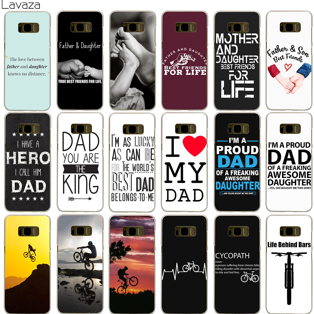 Lavaza Family Daddy And Daughter Son Im A Proud Dad Case for Samsung Galaxy S5 S6 S7 Edge S9 S8 Plus