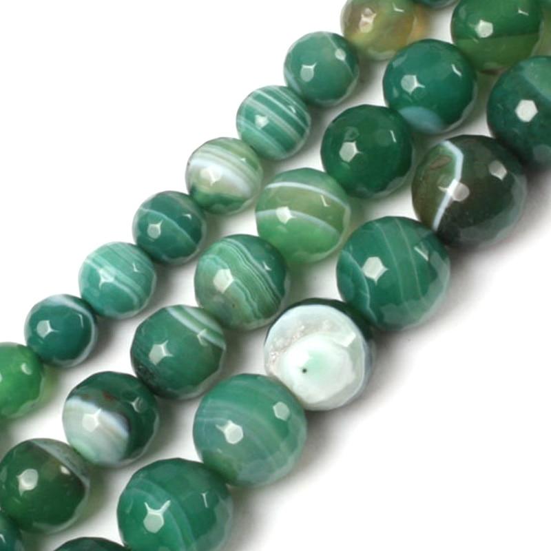 """4MM-14MM Luz Verde Jade Natural Gemstone Joyería haciendo suelta granos 15/"""" AAA"""