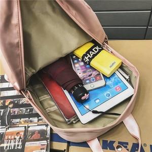 Image 5 - DCIMOR New Large Capacity Backpacks Waterproof nylon Ring portable backpack  School bag for Teenage Girls Mochila Female Daypack