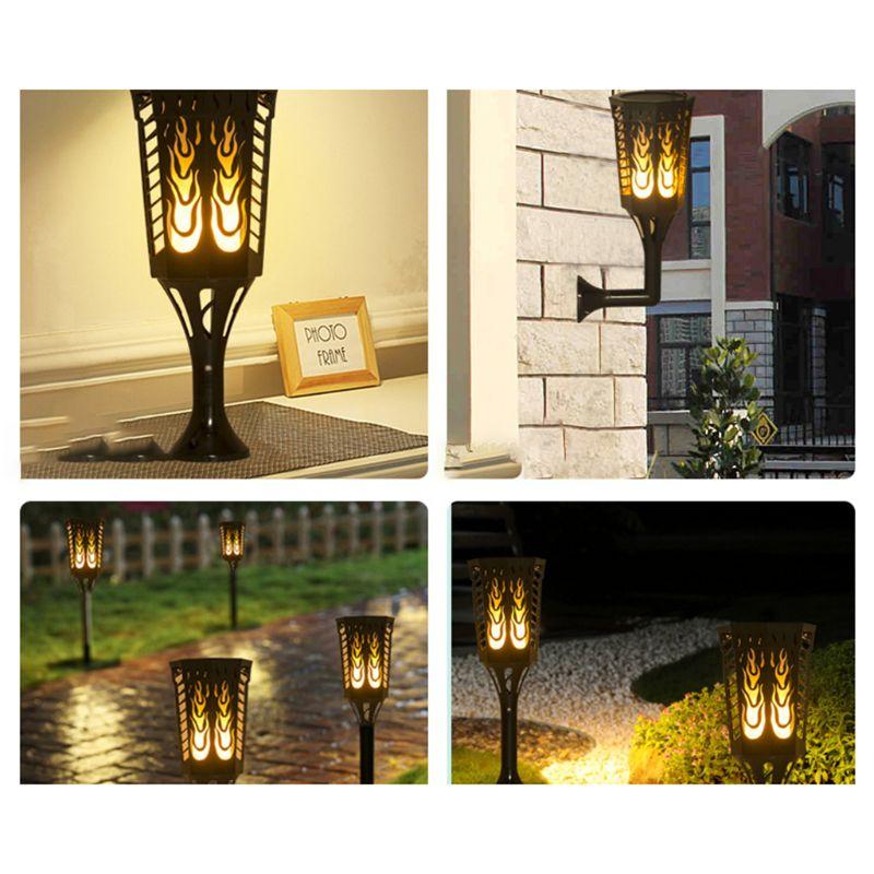 Vente chaude 3 en 1 lampes solaires LED colonnes décoratives lanterne pôle Table mur sol lampe éclairage voie jardin paysage Yard