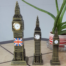 British Big Ben Model Home Furnishings Crafts European Style Decoration Accessories Miniature Figurines Accessory