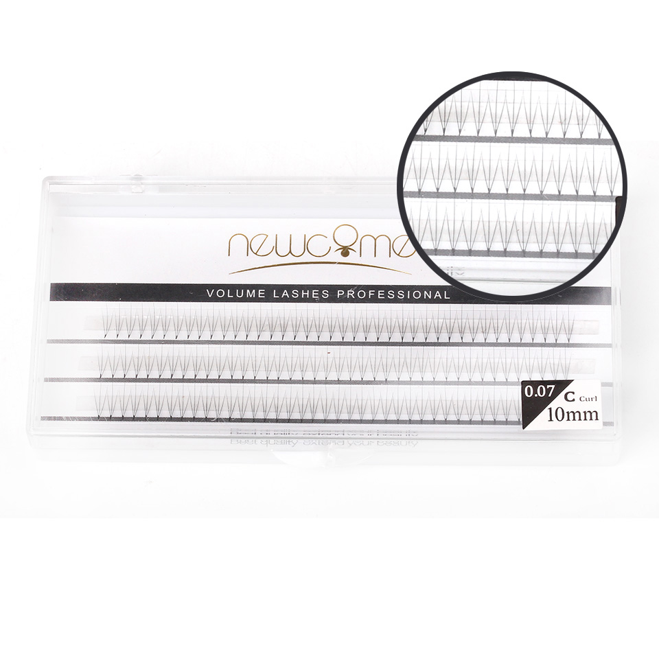Thinkshow 2pcs/Lot 8-12mm 3D 5D Volume 0.07 C Individual Eyelash Extension Natural Long Good Quality Lash Free Shipping