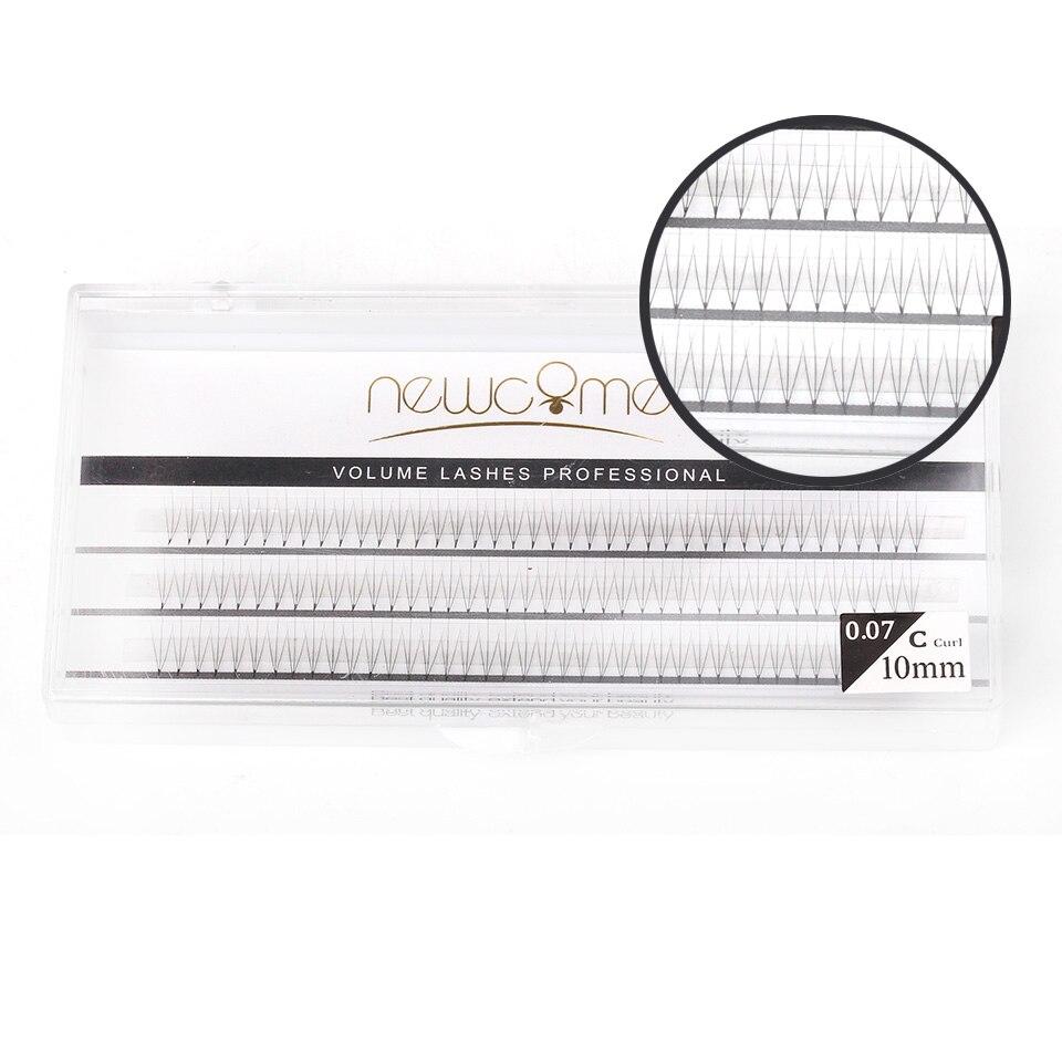 Thinkshow 2pcs/Lot 8-12mm 3D 5D Volume 0.07 C Individual Eyelash Extension Natural Long Good Quality Lash Free Shipping