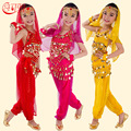 Kids Belly Dance Performance Girls Belly Dance Costume Set Indian Dance Clothing For Children