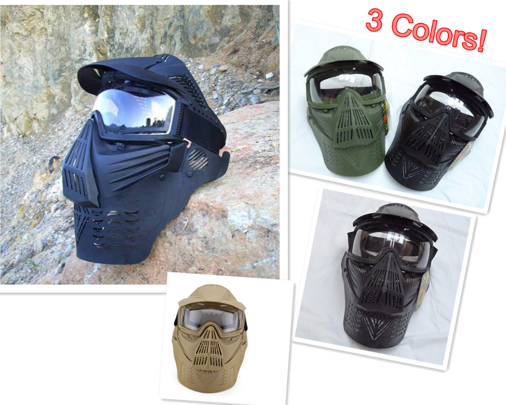 Outdoor CS Wargame Mask Tactical Full Face Airsoft Paintball CS Equipment Halloween Cosp ...