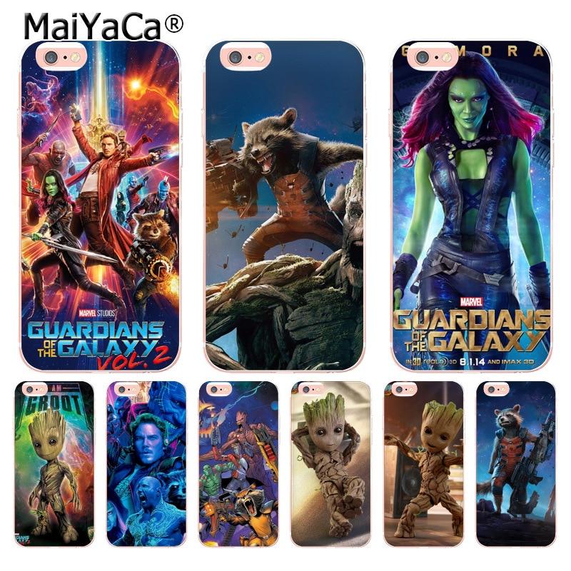 MaiYaCa Guardians of Marvel Unique Luxury transparent soft tpu phone case for iPhone X 6 6s 7 7plus 8 8Plus 5 5S 5C case