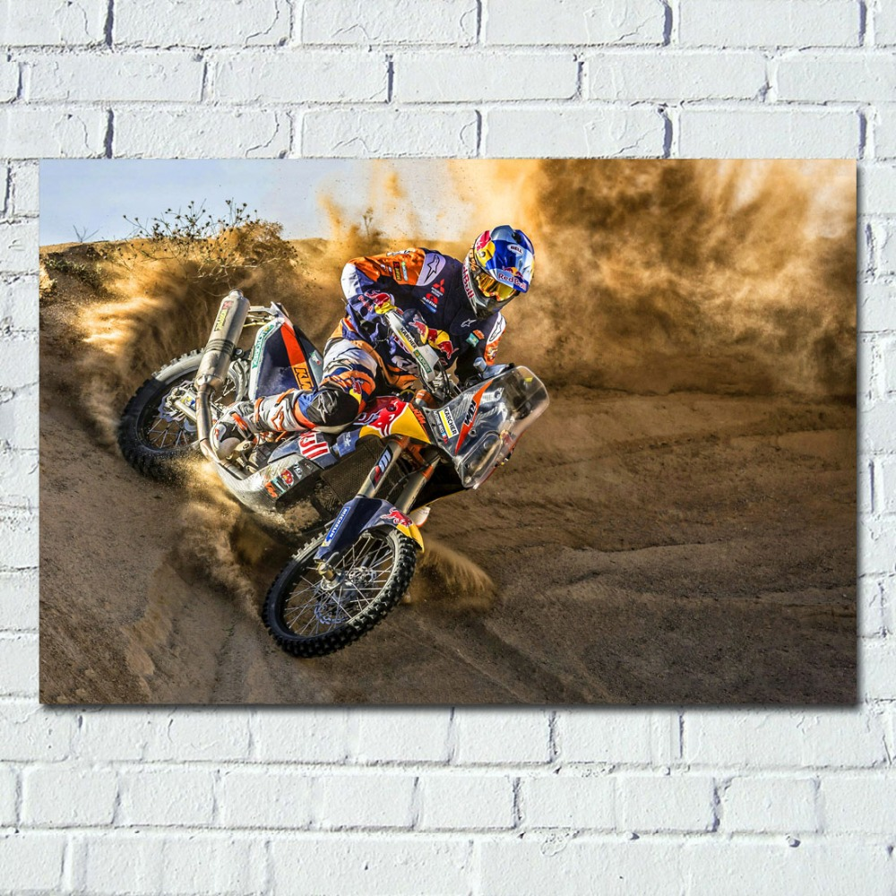 Dirtbike Motocross Motorcycle Wallpaper Wall Art Poster