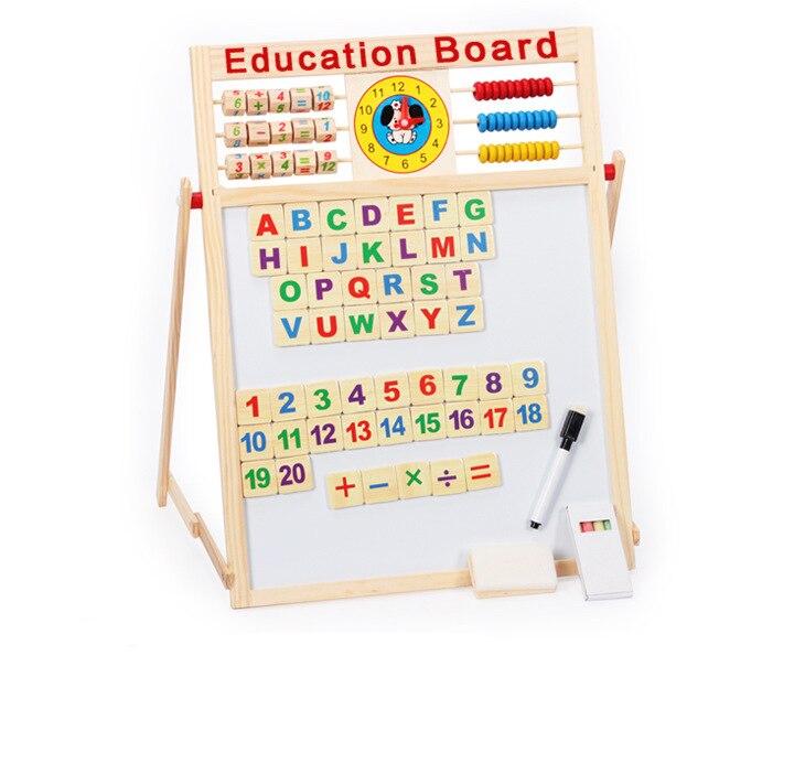 Montessori lettres de l'alphabet magnétique mathématiques matériaux penchés éducatifs perles en bois outils pour bébé 3 ans enfants cadeaux jouets