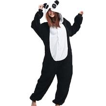 Donne Tutina Panda Pigiama Animale panda sleepwear Adulto Unisex Cosplay Costume Inverno Caldo Onsie Delle Donne Da Notte Homewear