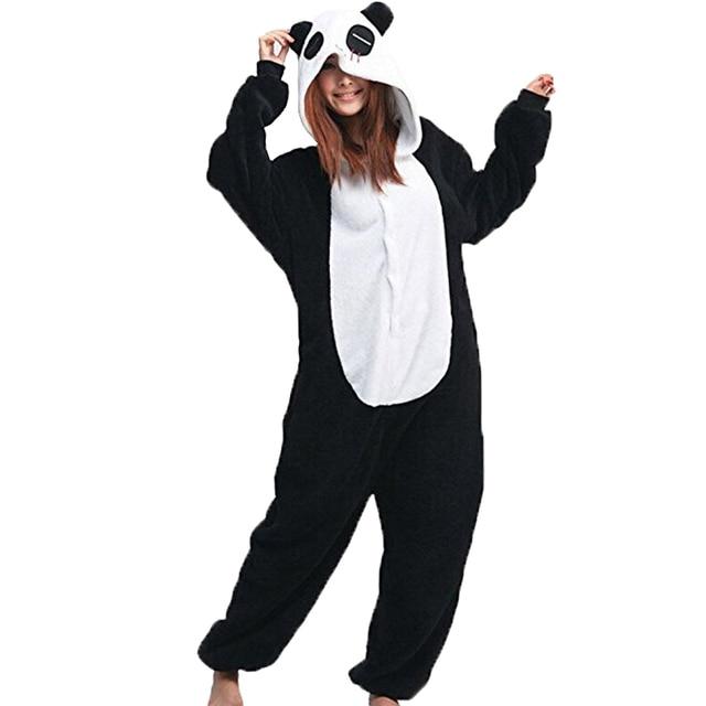 Women Onesie Panda Pajama Animal panda sleepwear Adult Unisex Cosplay Costume Winter Warm Onsie Women Nightwear Homewear