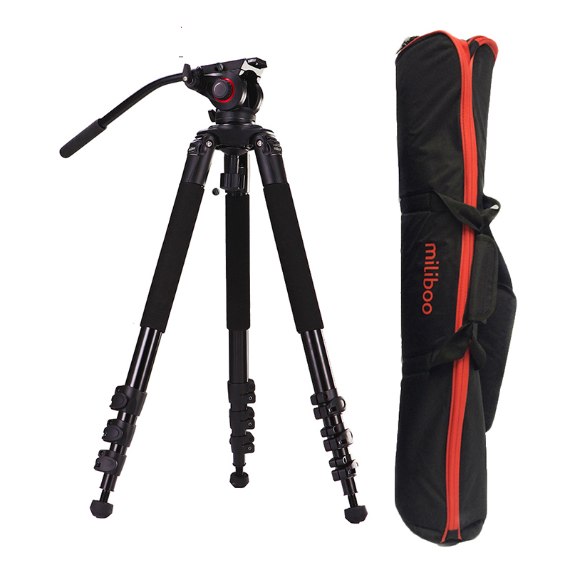 25kg Payload 702A Aluminum 39mm tube professional Video Camera Tripod Legs with fluid head MYT803 max load capacity 25kg bullet camera tube camera headset holder with varied size in diameter